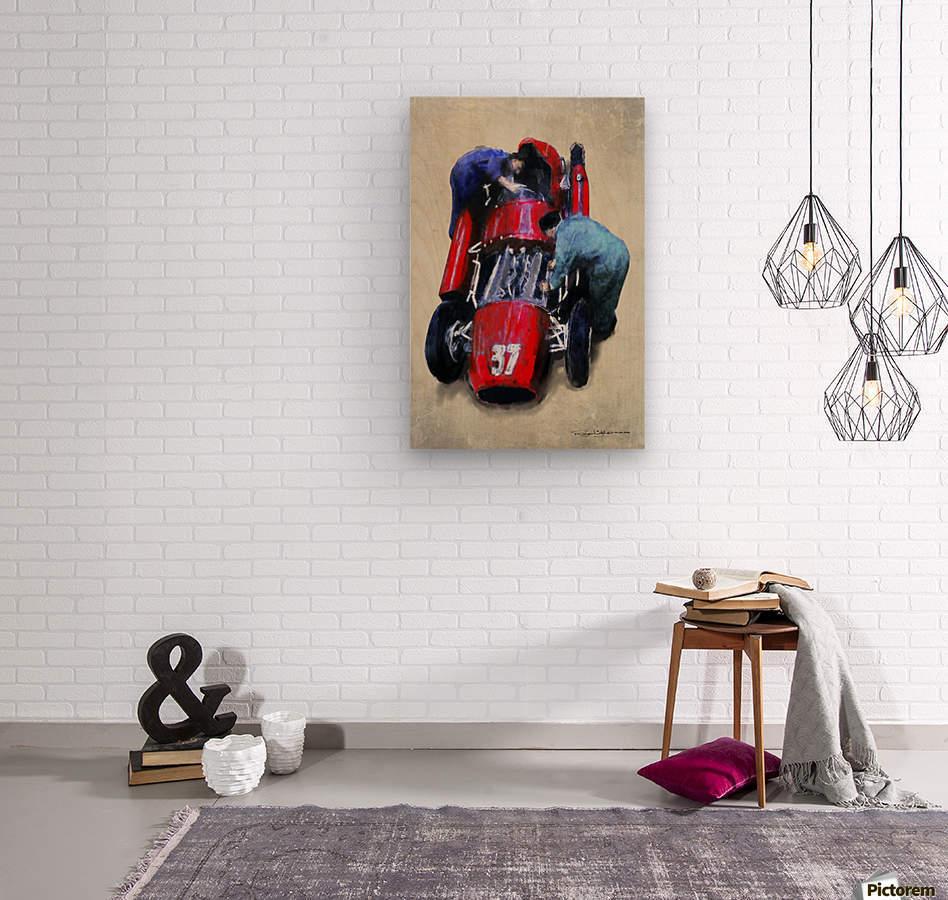 Lancia D50 1955  Wood print