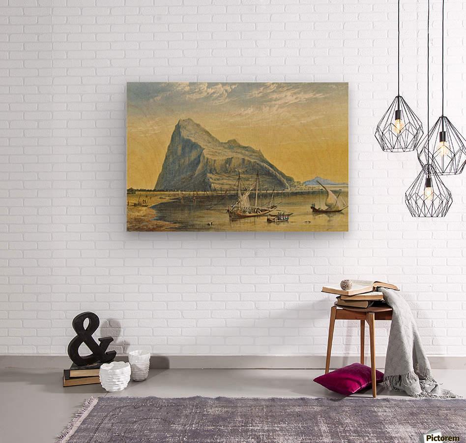 The Rock  Wood print