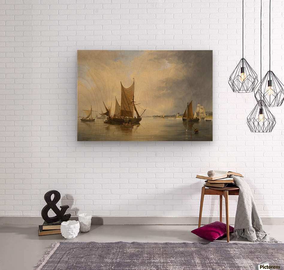 Sailing on the sea  Wood print