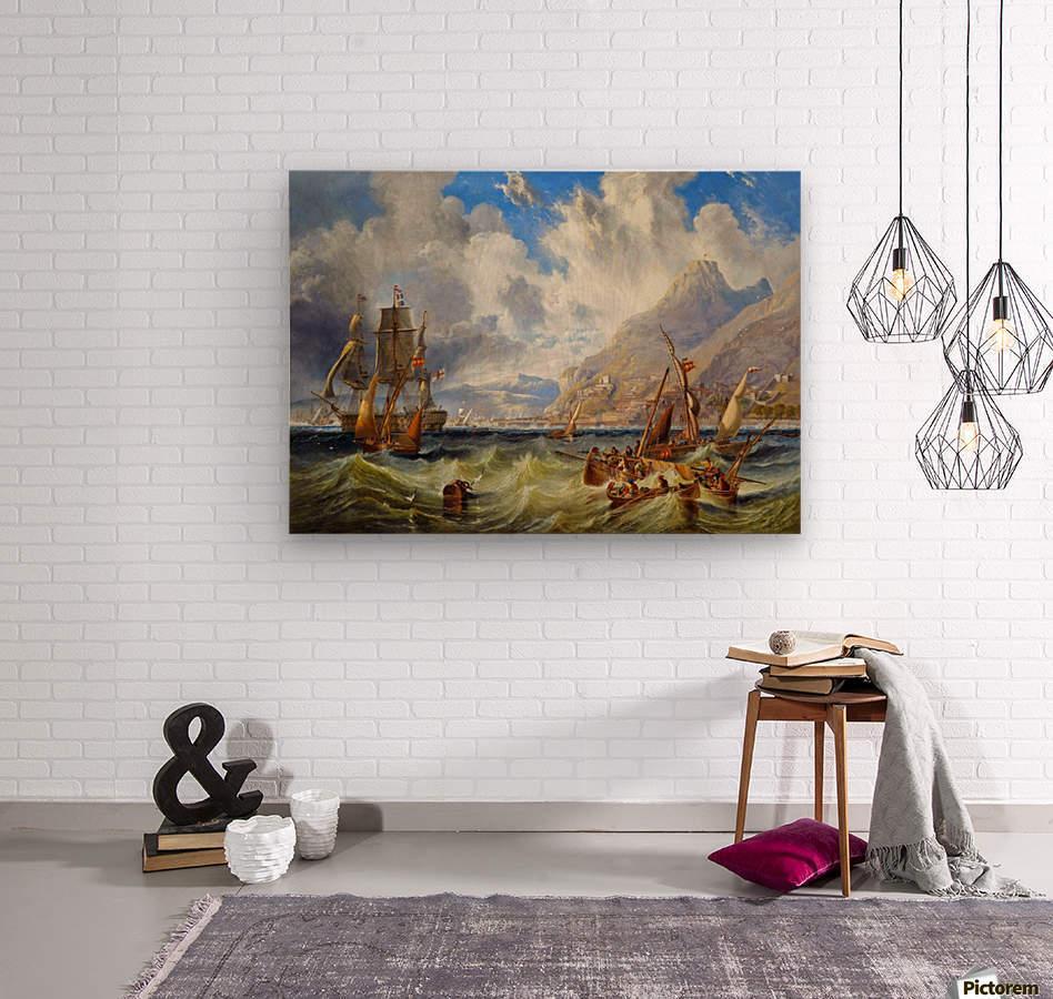 Sailing to Gibraltar  Wood print