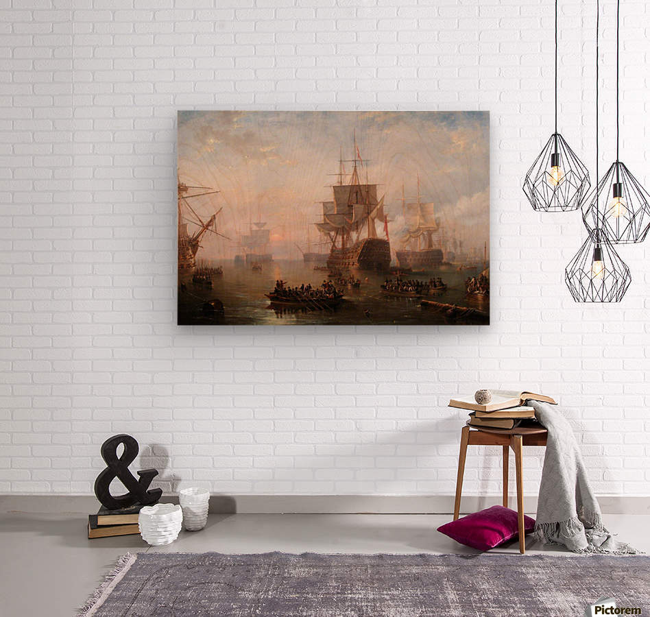 Anchored off the Isle of Wight  Wood print