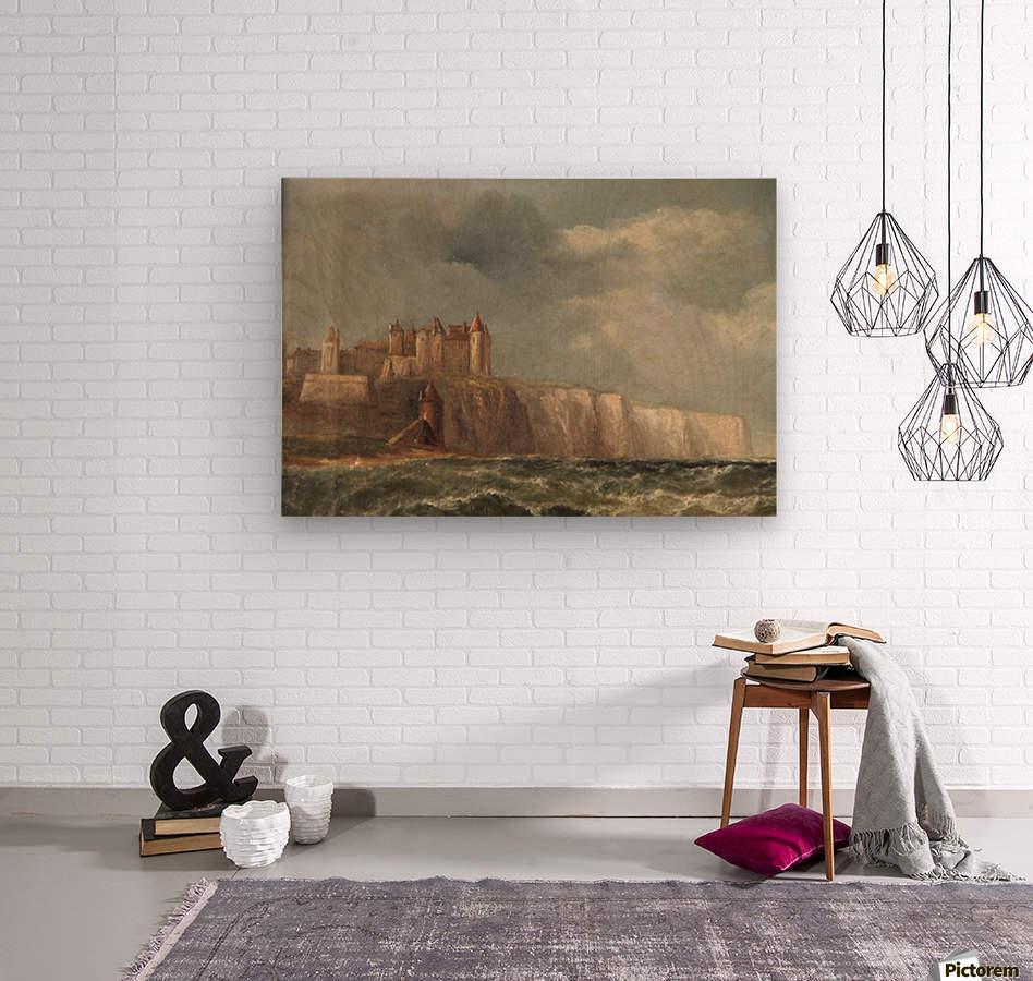 A castle on a clif  Wood print
