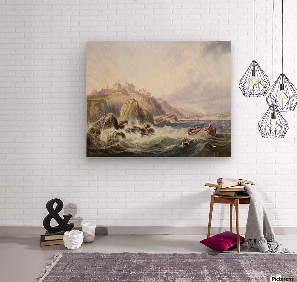 Fishing boats off Scotland  Wood print