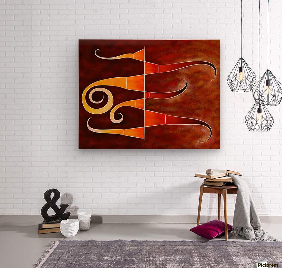Cassanita sol - martian bird  Wood print