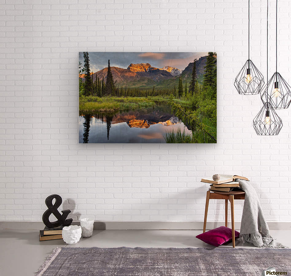 Reflection Of Skookum Volcano  Wood print