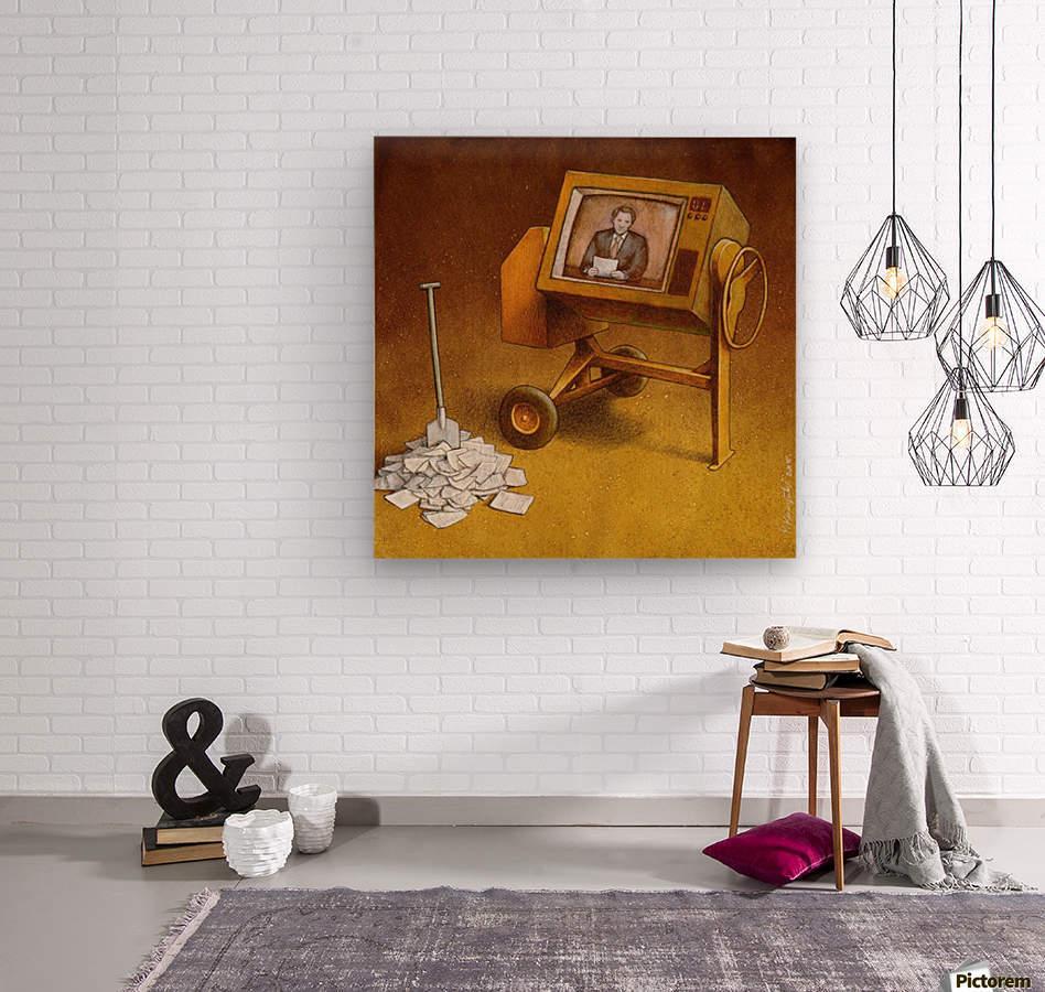 concrete mixer ( propaganda )  Wood print