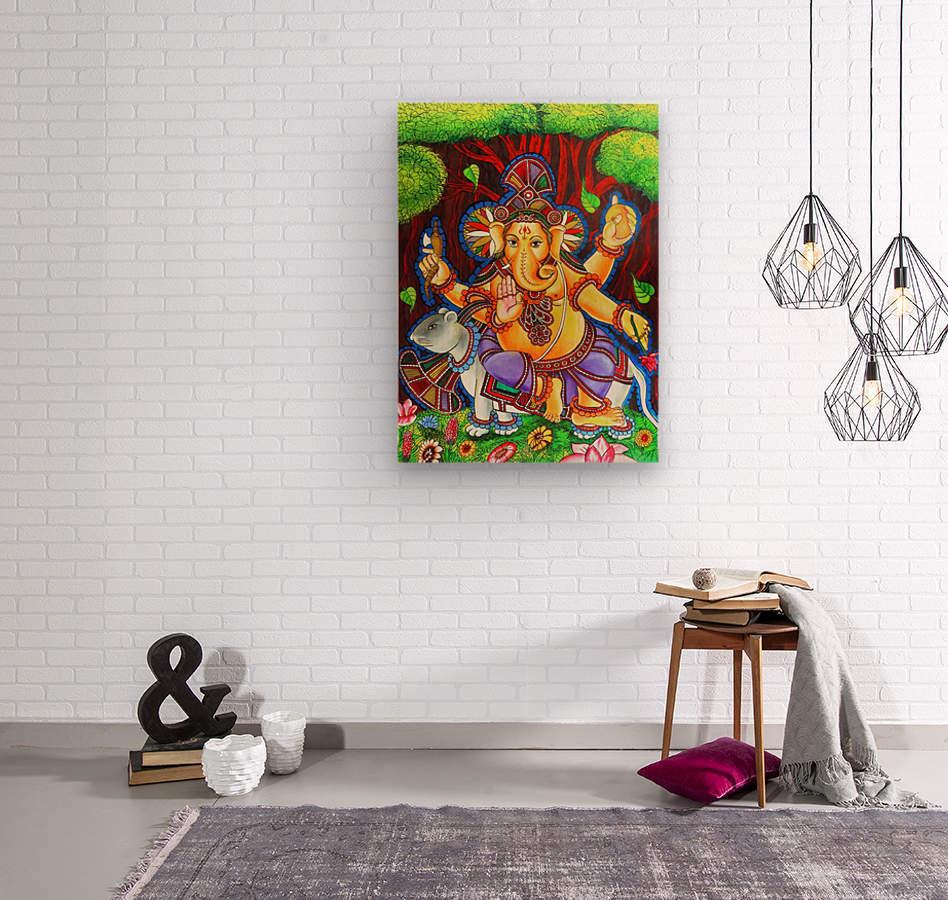 GANAPATHY MURAL  Wood print