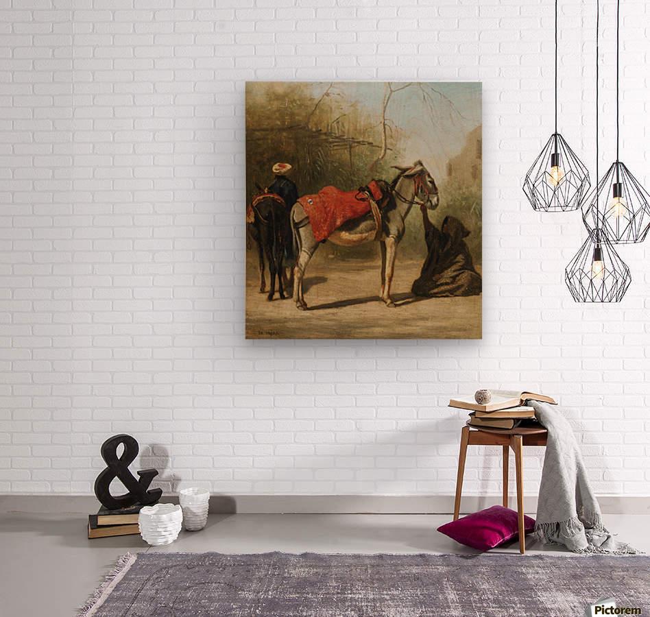 Donkeys in Cairo  Wood print