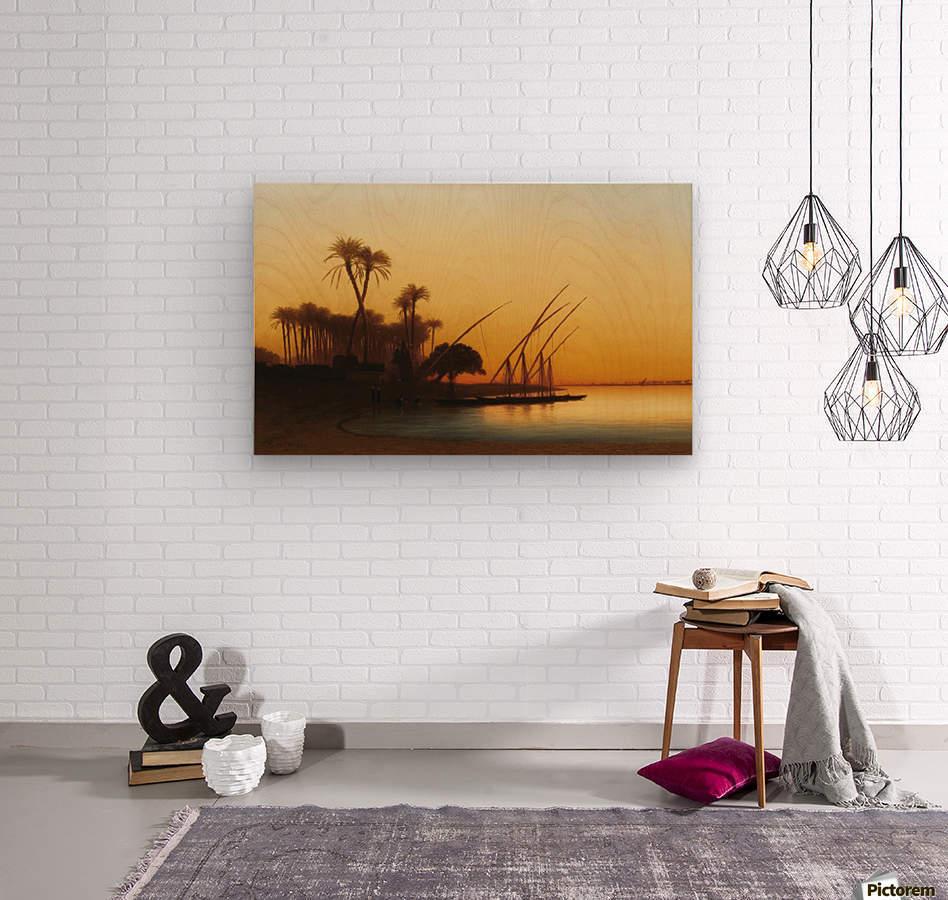 Sunset on the Nile  Wood print