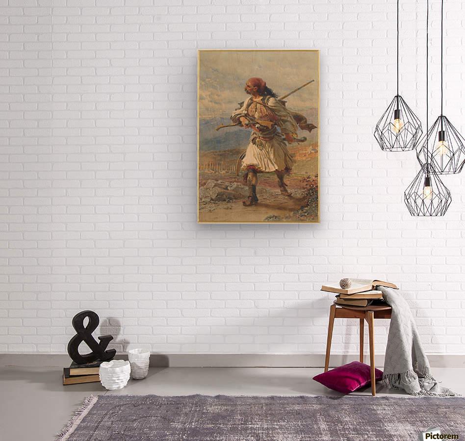 Greek Warrior  Impression sur bois