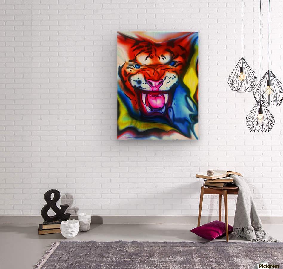 tiger1  Wood print