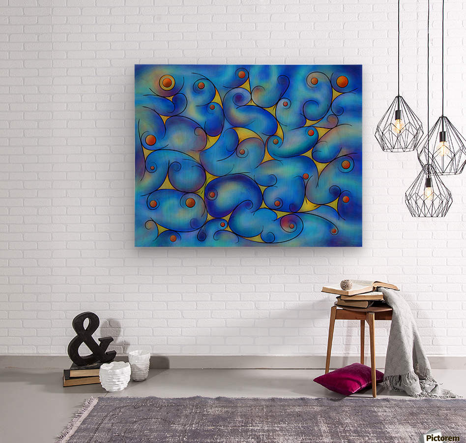 Supliussa - Milky way  Wood print