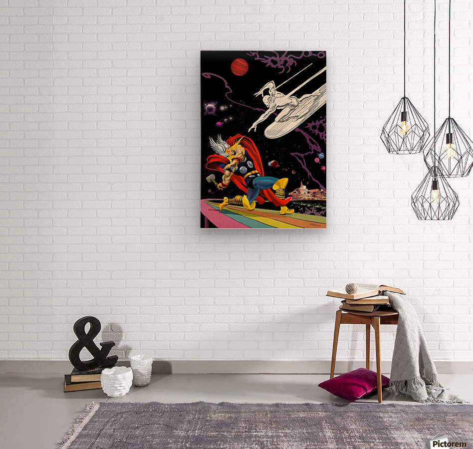 Marvel: Thor vs The Silver Surfer  Wood print
