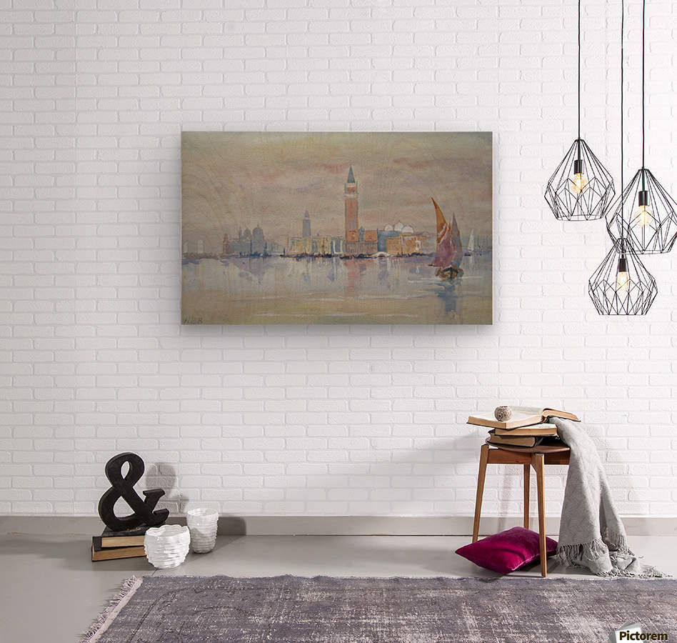 Venice from the Bacino  Wood print