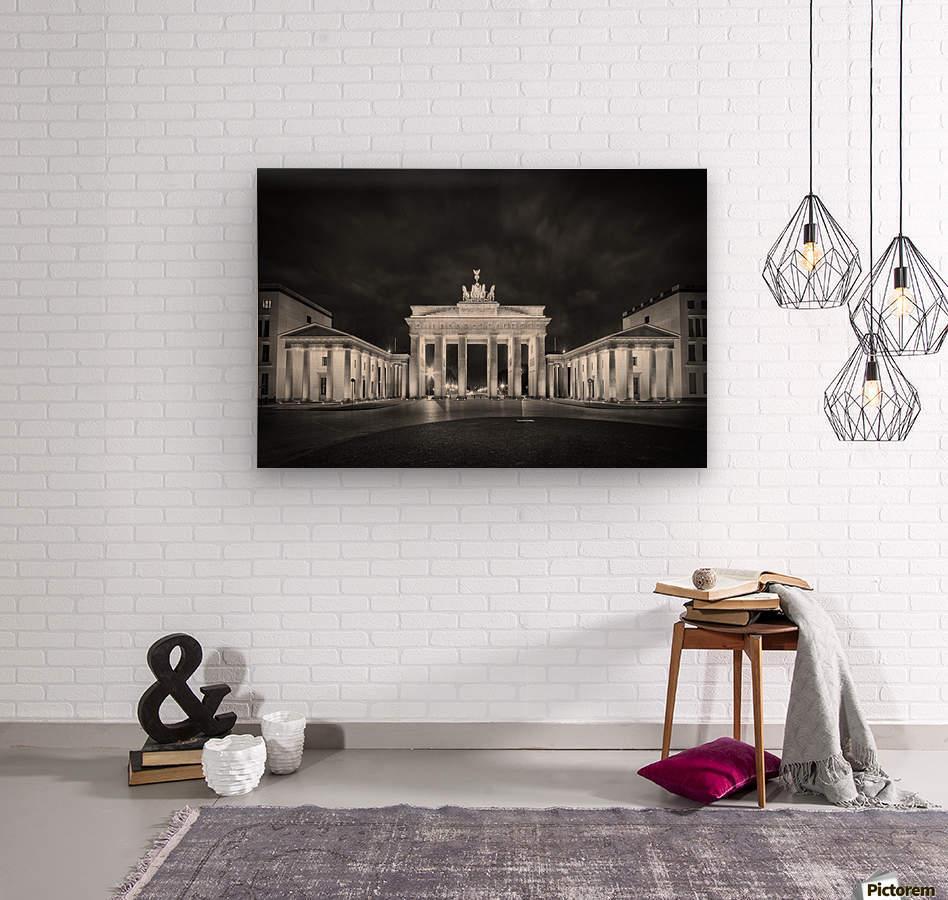 BERLIN Brandenburg Gate   Monochrome  Wood print