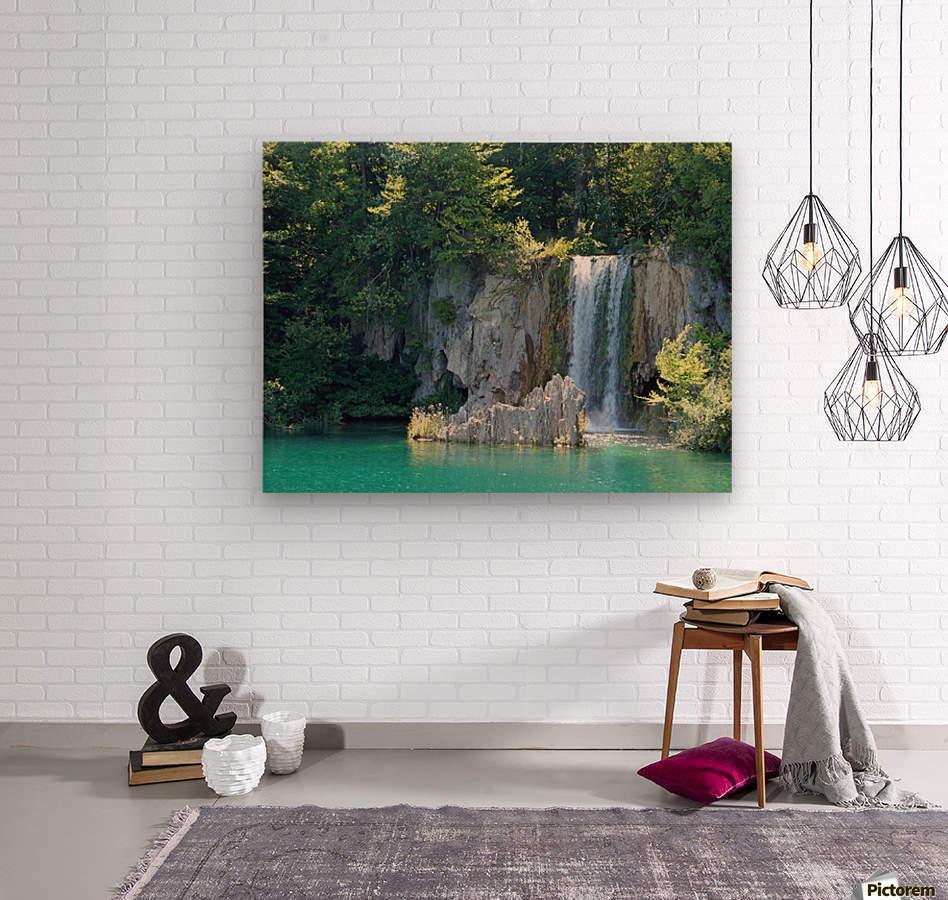 waterfall - Plitvicer lakes-nationalpark  Wood print