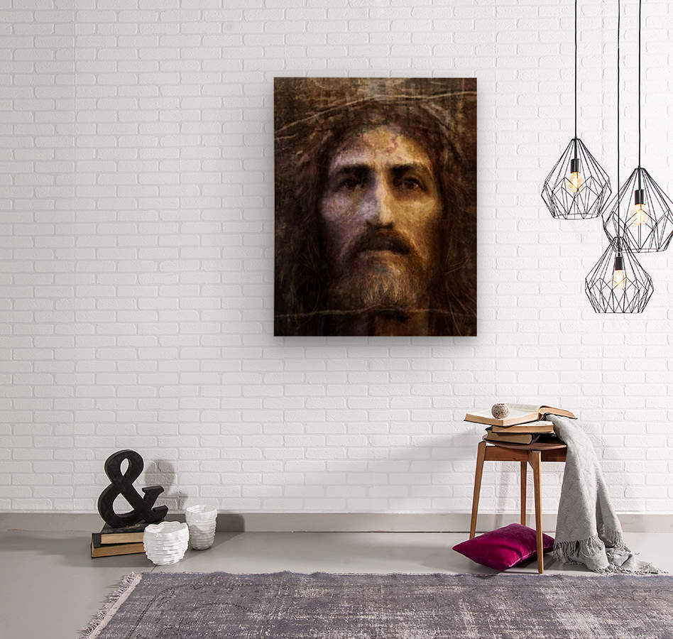 Christ face reconstruction  Wood print