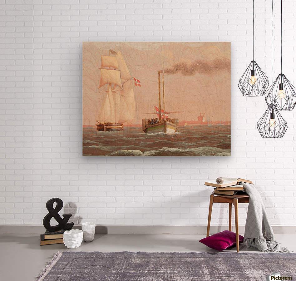 Danish paddle steamer  Wood print