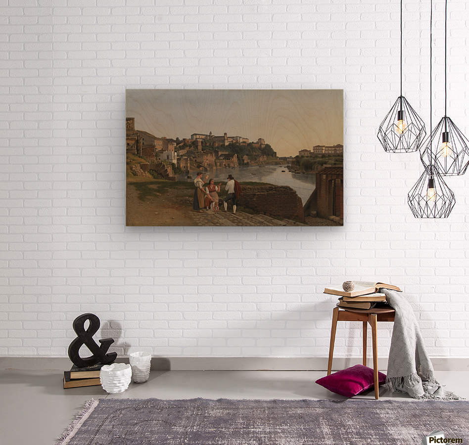 View of the Tiber near Ponte Rotto  Wood print