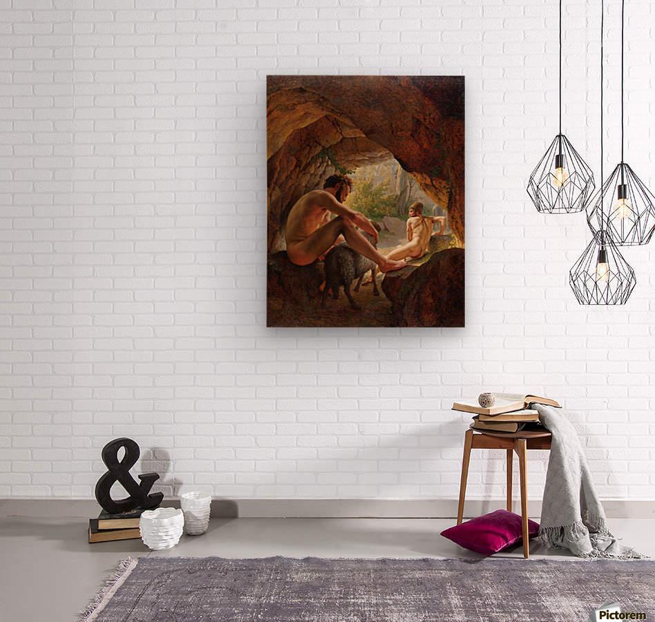 Odysseus flygter fra Polyfem  Wood print