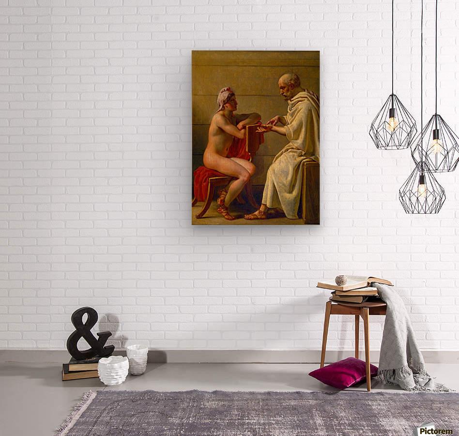 Socrates and Alcibiades  Wood print