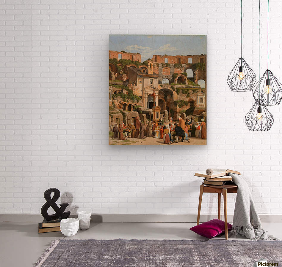 View of the interior of the Colosseum  Wood print