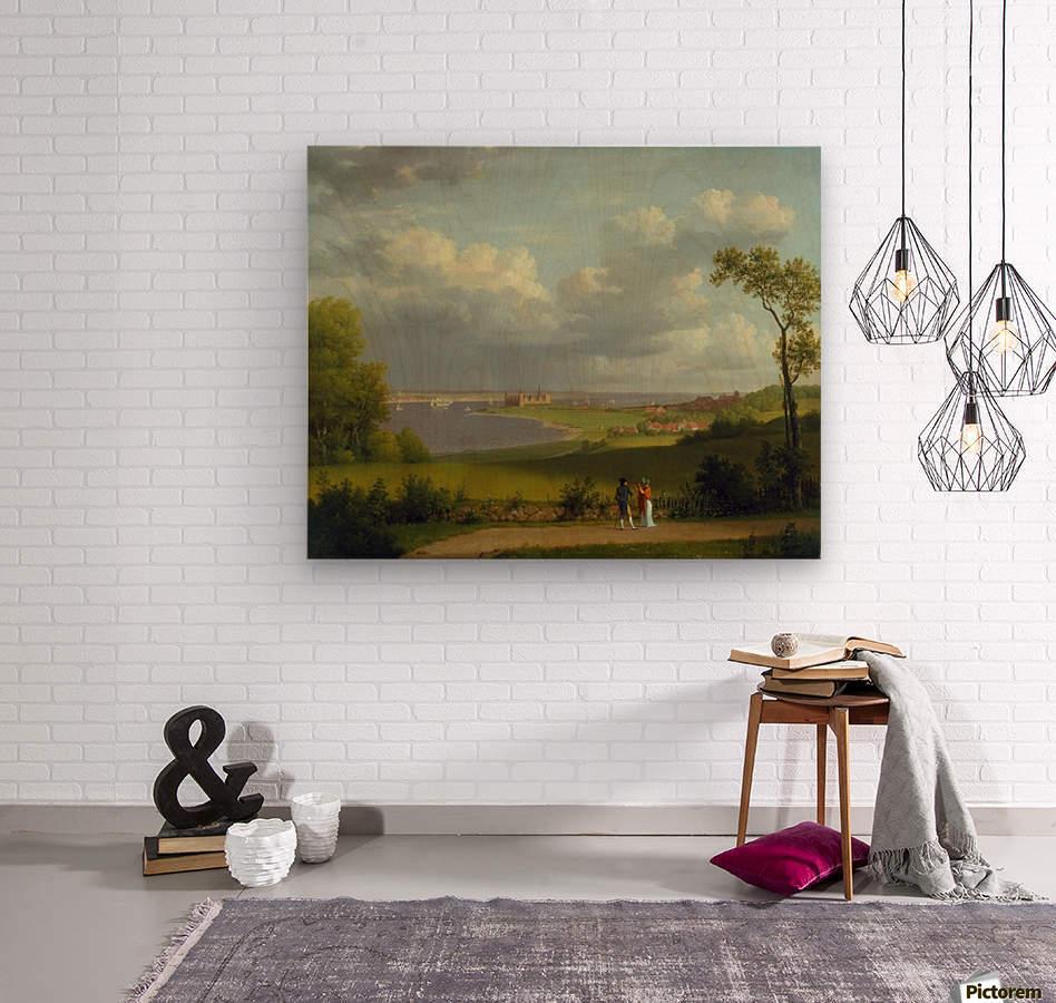 View north of Kronborg Castle  Wood print