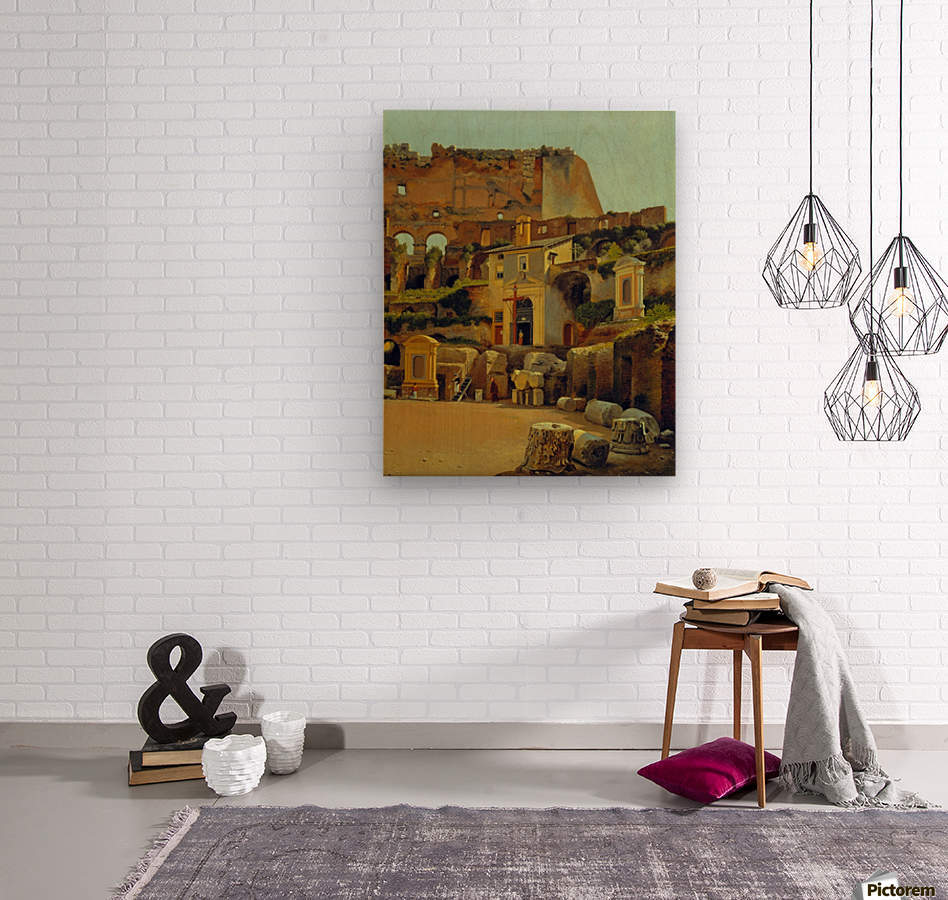 Interior of the Colosseum in Rome  Wood print