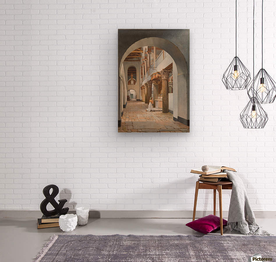 View of the Church of San Lorenzo fuori le Mura  Wood print