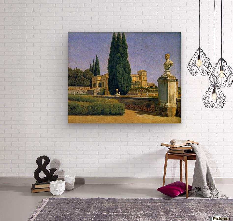 In the Gardens of the Villa Albani  Wood print