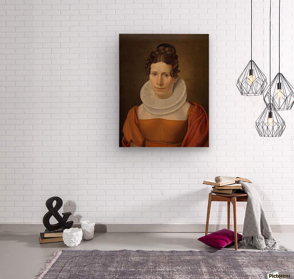 Portrait of Faktor Fjellerups Kone  Wood print