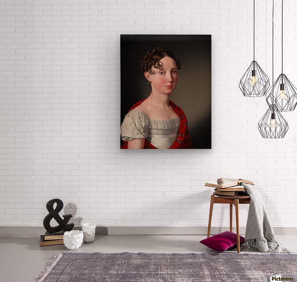 Portrait of Ida Mariane Brockenhuus  Wood print