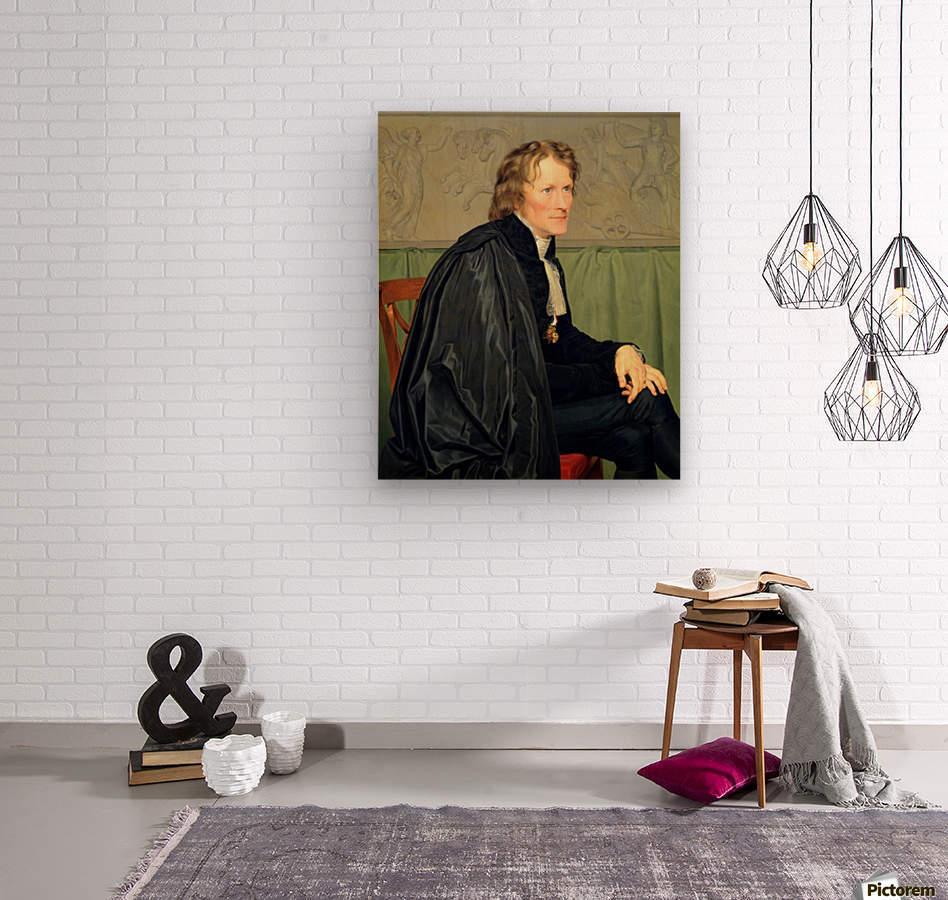 Portrait of Bertel Thorvaldsen  Wood print
