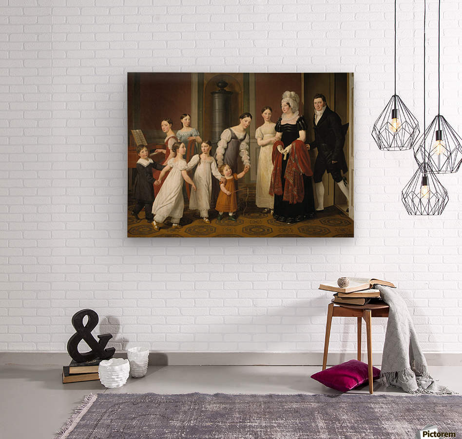 The Nathanson Family  Wood print