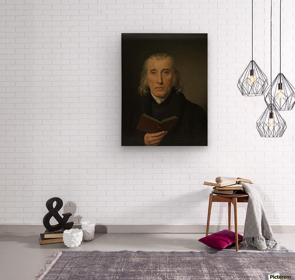 Portrait of Gedalia Moses  Wood print