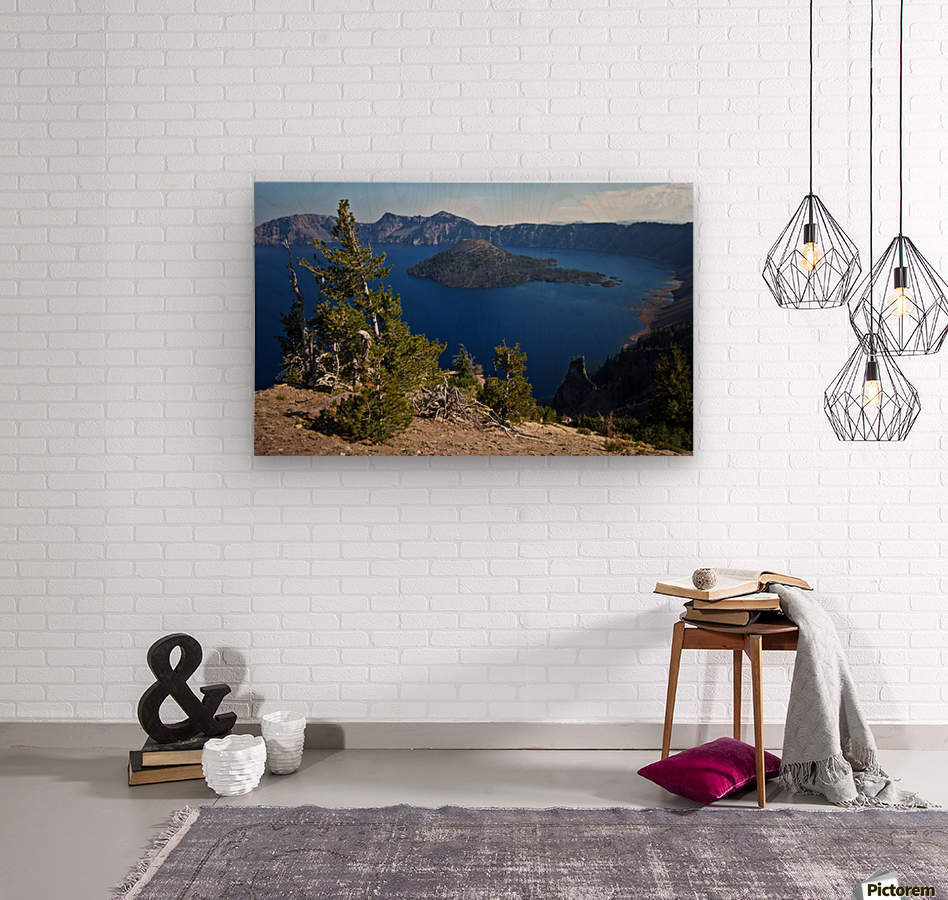 Crater Lake Scenic Aug, 2015  Wood print