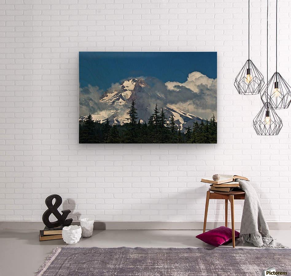 Clouded Peak-Mt Hood  Wood print