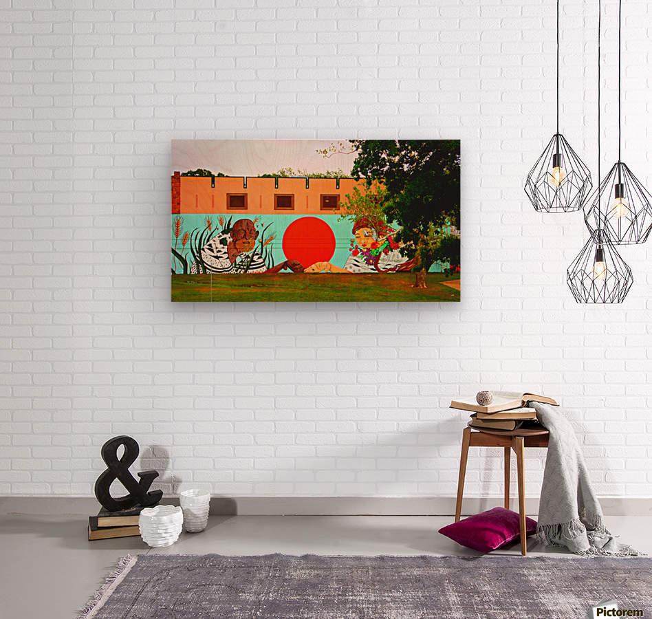 Beautiful Mural OKC  Wood print