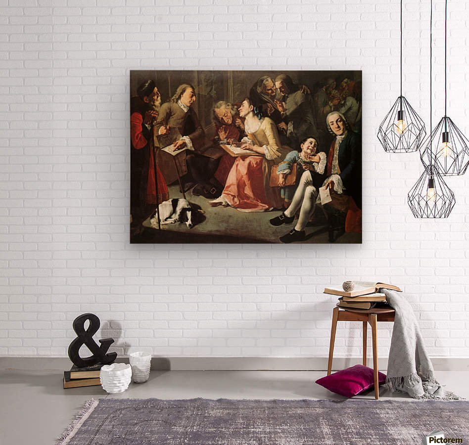 The drawing room 1750  Impression sur bois