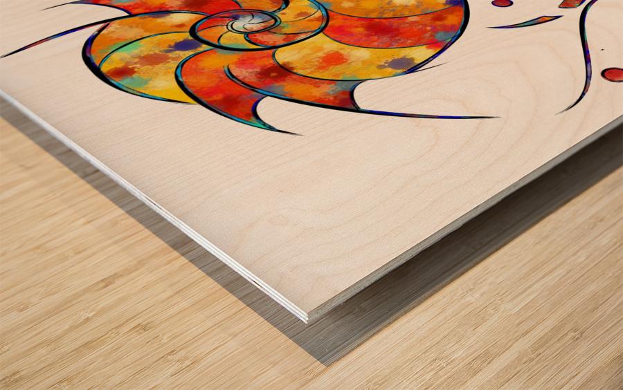 Espanessua - imaginery spiral flower Wood print