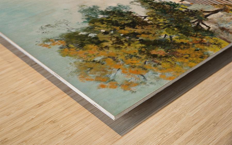 La baie de Naples Wood print