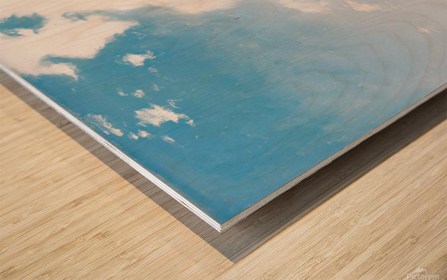 Sunny day on Naples Bay Wood print