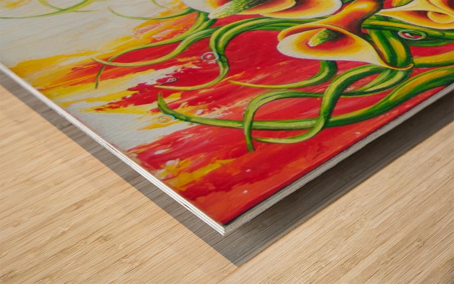 Fall for callas Wood print