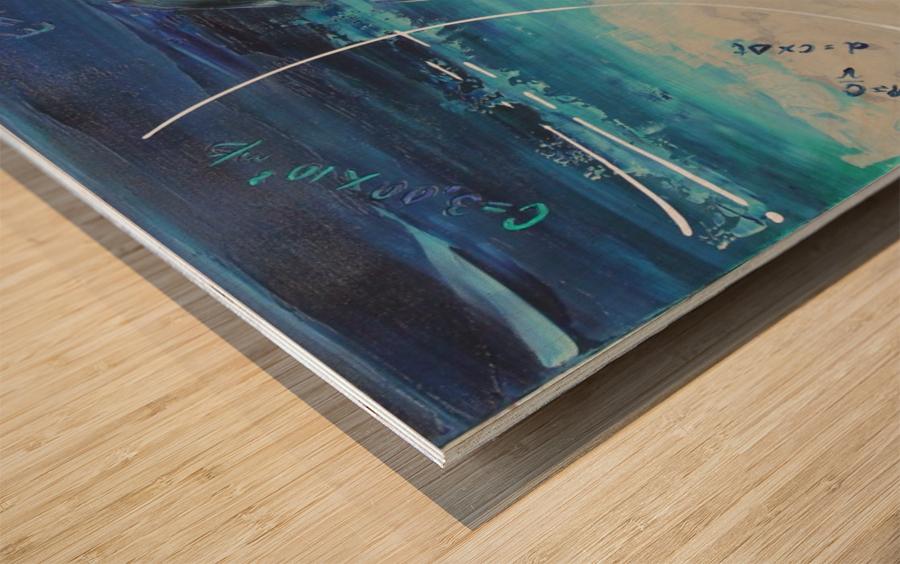 Mise à Nue Wood print