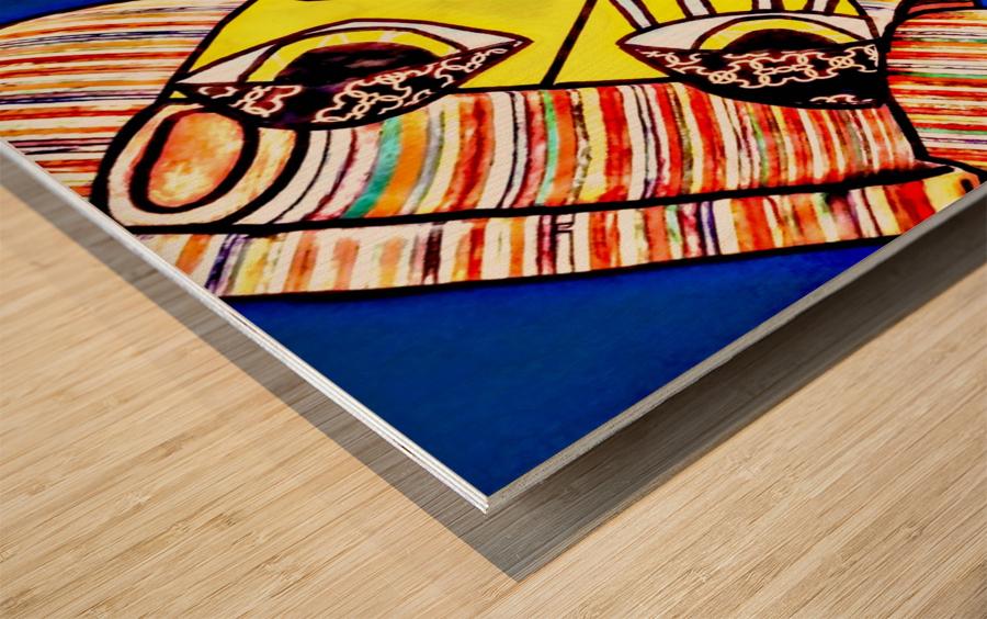 pixel Wood print
