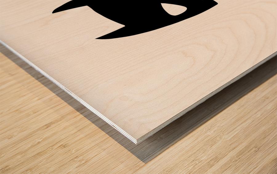 BATCHILD Wood print