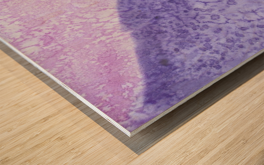 Magenta and Violet Rain. Wood print