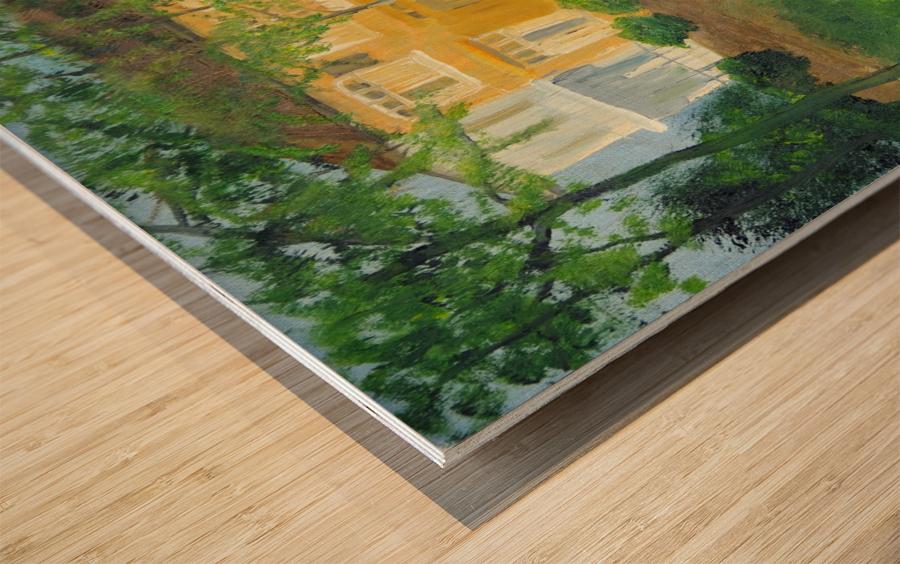 Unoccupied Estate. Wood print
