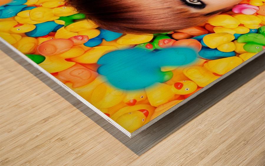 Duckfaceicon Wood print