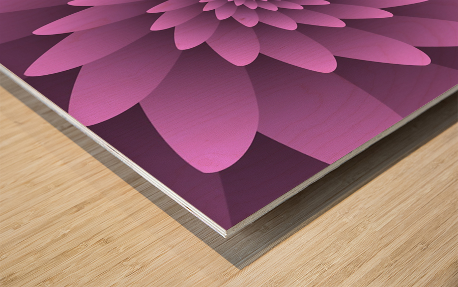 3D Floral Modern Artwork Wood print